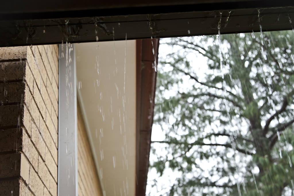 casa em dias de chuva