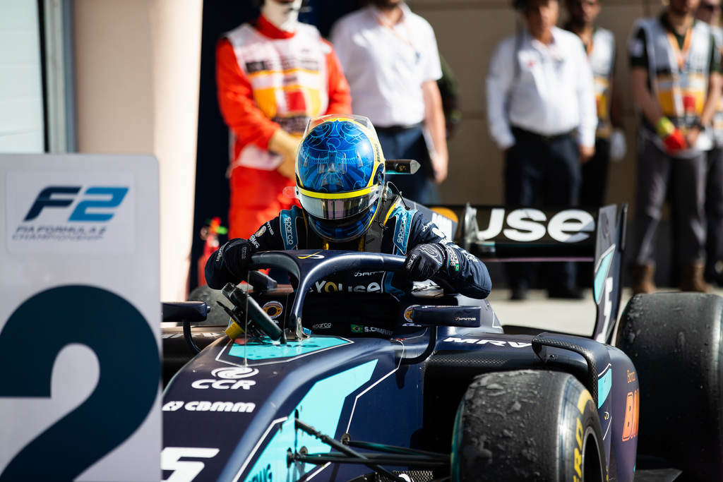 Sergio Sette no podio de Sakhir