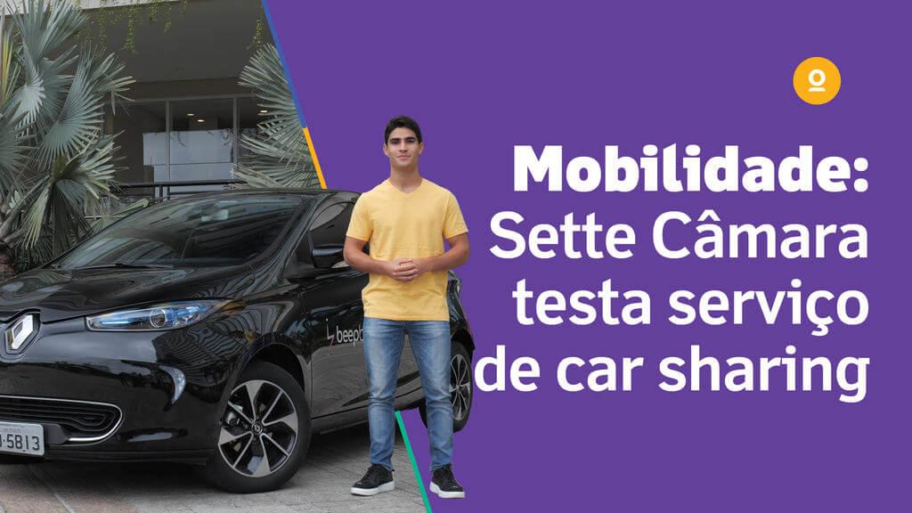 Sette Câmara testa serviço de carros compartilhados elétricos
