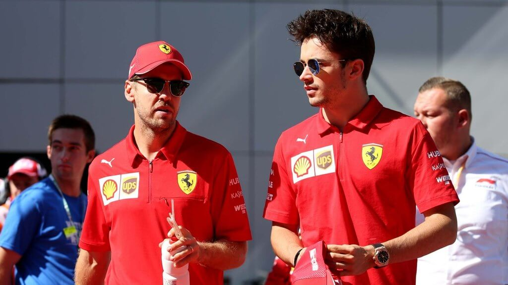 Charles Leclerc e Sebastian Vettel