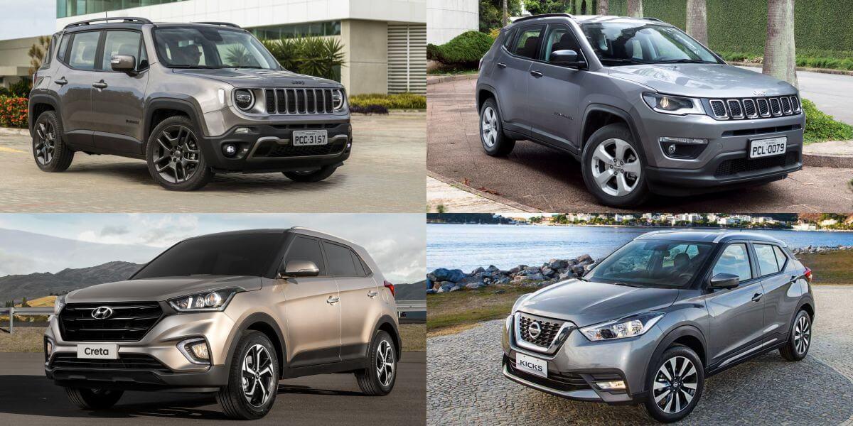 SUVs mais vendidos